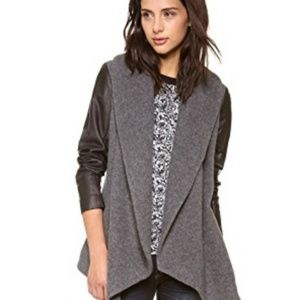 Theory Laura Amazing Jacket in Charcoal-Size Small